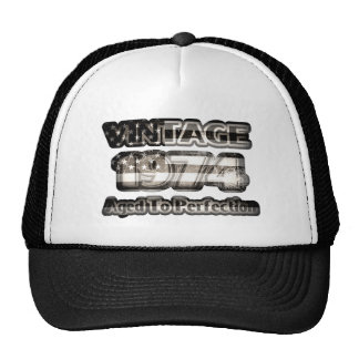 Vintage 1974 - Aged To Perfection Trucker Hat
