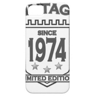 Vintage 1974 birth day limited t shirt.png iPhone 5 cases