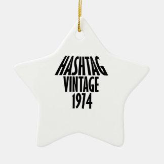 vintage 1974 designs ceramic ornament