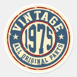 Vintage 1975 All Original Parts Classic Round Sticker