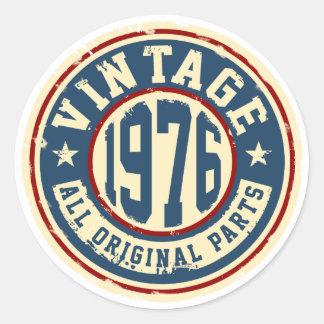 Vintage 1976 All Original Parts Classic Round Sticker