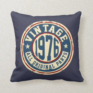 Vintage 1976 All Original Parts Throw Pillow