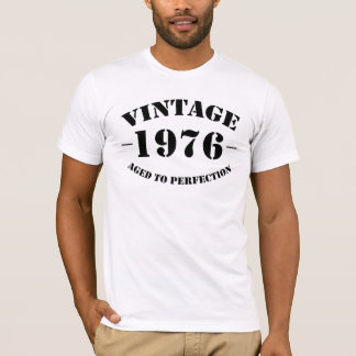 Vintage 1976 Birthday aged to perfection T-Shirt