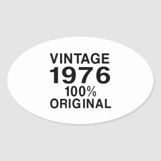 Vintage 1976 oval sticker
