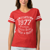 Vintage 1977 40th Birthday Year Premium Original T-shirt