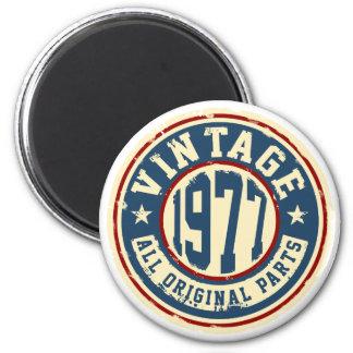 Vintage 1977 All Original Parts 2 Inch Round Magnet