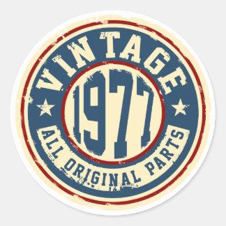 Vintage 1977 All Original Parts Classic Round Sticker