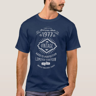 Vintage 1977 Funny 40th Birthday Party Shirt
