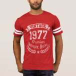 Vintage 1977 Retro 40th Birthday Premium Origina T-shirt at Zazzle
