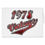 Vintage 1978 felicitacion