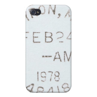 Vintage 1978 Postmark iPhone Case iPhone 4 Cover