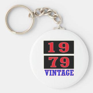 Vintage 1979 llaveros personalizados