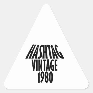 vintage 1980 designs triangle sticker