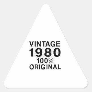 Vintage 1980 triangle sticker