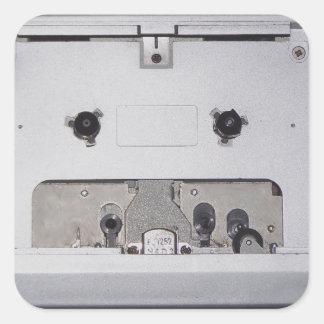 Vintage 1980s Cassette Player Square Stickers