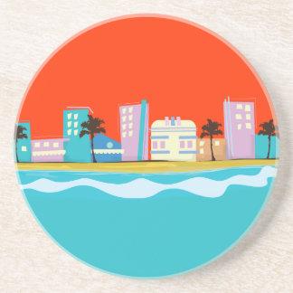 Vintage 1980s Miami Poster Coaster