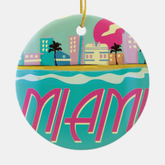 Vintage 1980s Miami Poster Ornaments