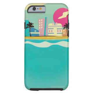Vintage 1980s Miami Poster Tough iPhone 6 Case