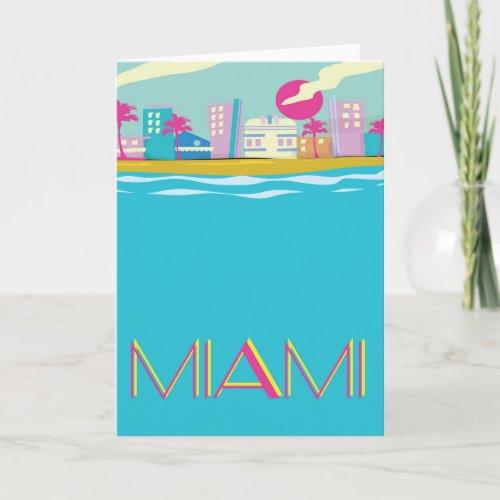 Vintage 1980s Miami Travel poster