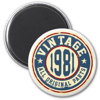 Vintage 1981 All Original Parts Magnet