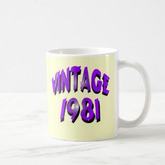 Vintage 1981 coffee mug