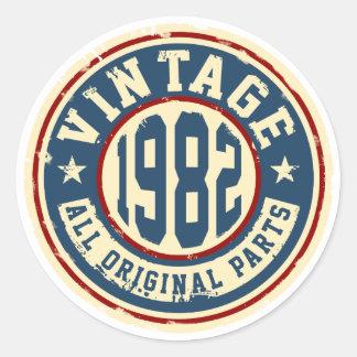 Vintage 1982 All Original Parts Classic Round Sticker