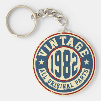 Vintage 1982 All Original Parts Keychain