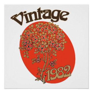 Vintage 1982 birth year poster