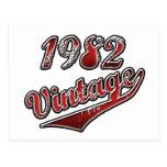 Vintage 1982 postal