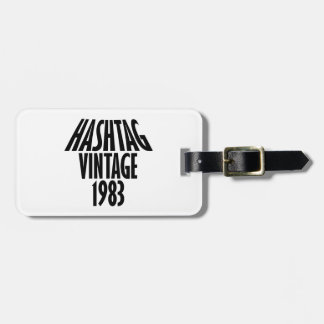 vintage 1983 designs bag tag