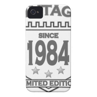 Vintage 1984 birth day limited t shirt.png iPhone4 case