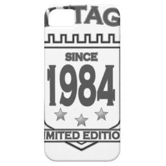 Vintage 1984 birth day limited t shirt.png cover for iPhone 5/5S