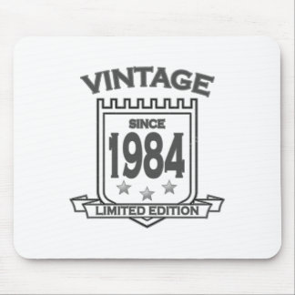 Vintage 1984 birth day limited t shirt.png mouse pad