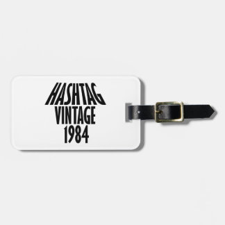 vintage 1984 designs luggage tag