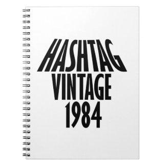 vintage 1984 designs notebook