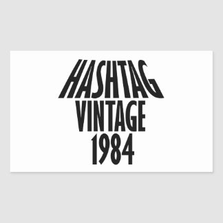 vintage 1984 designs rectangular sticker
