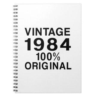 Vintage 1984 notebook