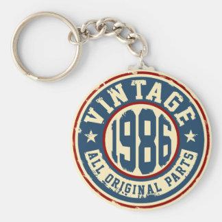 Vintage 1986 All Original Parts Basic Round Button Keychain