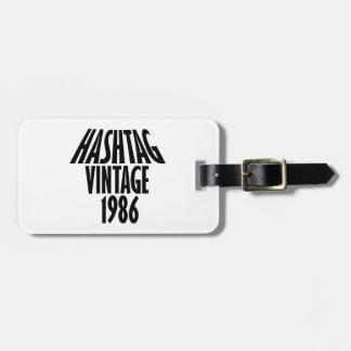 vintage 1986 designs luggage tag