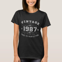 Vintage 1987 Birthday T-Shirt