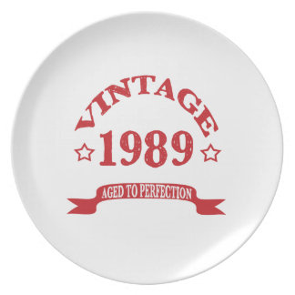 Vintage 1989 Aged to Paerfection Dinner Plates
