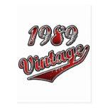 Vintage 1989 tarjeta postal