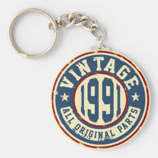 Vintage 1991 todas las piezas de la original llavero redondo tipo pin