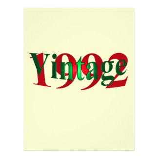 Vintage 1992 membrete a diseño