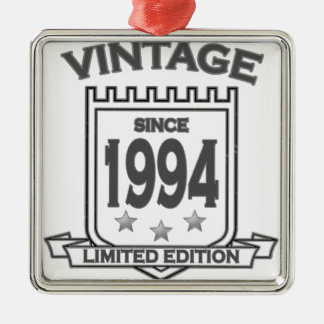 Vintage 1994 birth day limited t shirt.png metal ornament