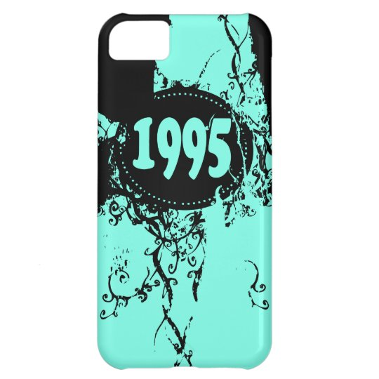 Vintage 1995 Birthday and Since (Aqua, Black) iPhone 5C Cover