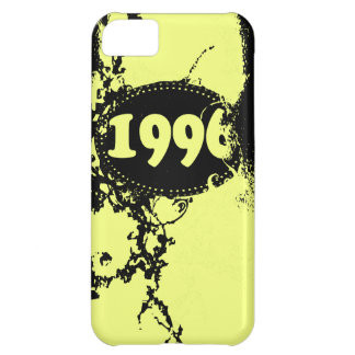 Vintage 1996 Birthday and Since (Yellow, Black) Cover For iPhone 5C