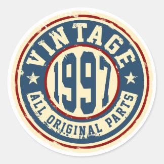 Vintage 1997 All Original Parts Classic Round Sticker