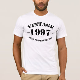 Vintage 1997 Birthday aged to perfection T-Shirt