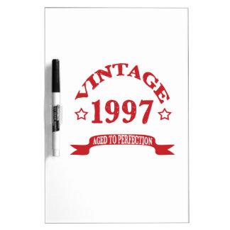 Vintage 1997 envejecido a Paerfection Pizarra